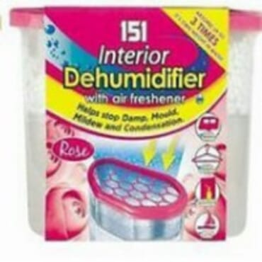 3 in 1 dehumidifier package frangrance consist of rose,lemon and vanilla