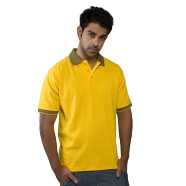 Sandhu Men's Premium Polo T-Shirts L-XL - Yellow