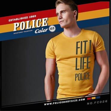 Police FC 026 Yellow Bodysize Size 8-12