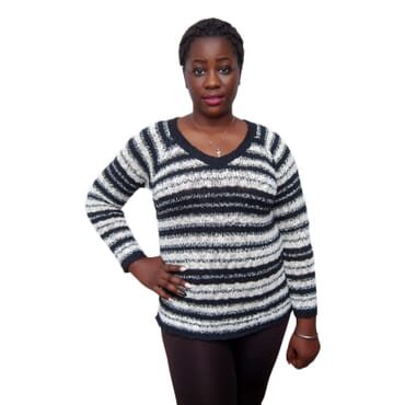 F & F Red and Black Sweater Top