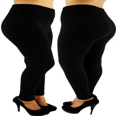 High Waist Thick Leggings - Black