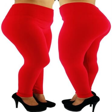 High Waist Thick Leggings - Red
