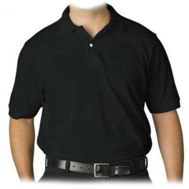 BYC Men's Heavy Duty Polo T-Shirt - Black