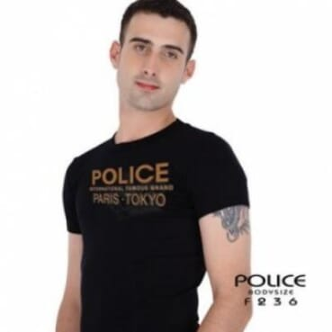 Police Sales T-Shirt F.236 - Black