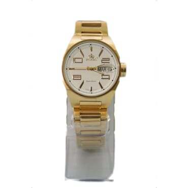 Promado 3514 18K GOLD Chain White Face Watches - White
