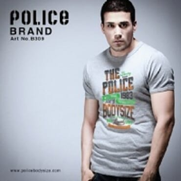 Police Bigsize B.309 T-Shirt-White/Black/Grey