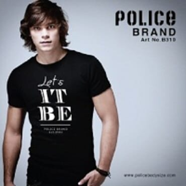 Police Bigsize B.310 T-Shirt-White/Black/Grey