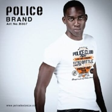 Police Bigsize B.307 T-Shirt-White/Black/Grey