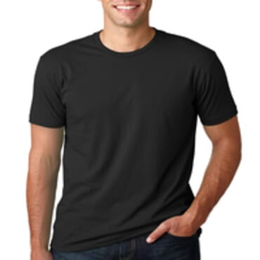BYC Slim -Fit Fashion Round-Neck T- Shirt -Black
