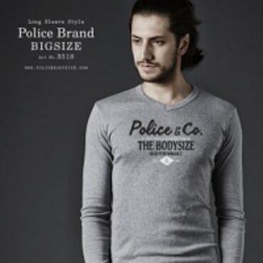 Police Bigsize B.318 T-Shirt-White/Black/Grey