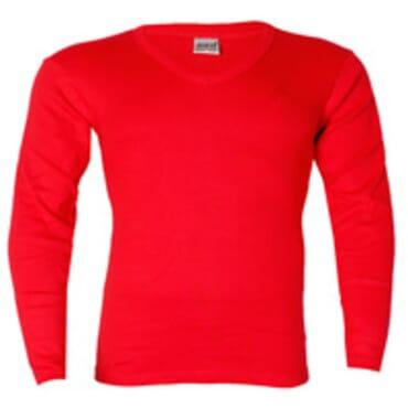 JUST IT LONGSLEEVE RED BODYSIZE T-SHIRT Size M -L V-NECK