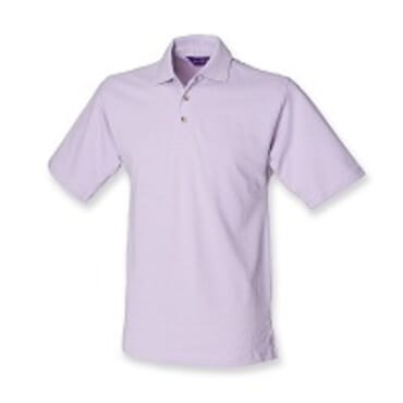 Henbury H100 Pure Cotton Short Sleeve Polo Shirt - Lilac