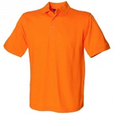 Henbury H100 Pure Cotton Short Sleeve Polo Shirt - Orange