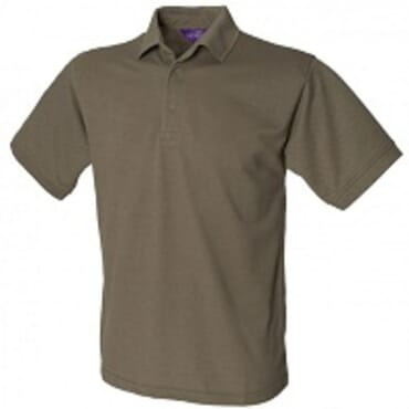 Henbury H100 Grey Pure Cotton PoloT-Shirt XS - XXL