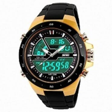 Skmei 1016-G Digital Analog Swim Sport Watch Gold