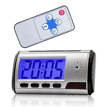 Motion Detection USB Remote Control Spy Camera Alarm Clock