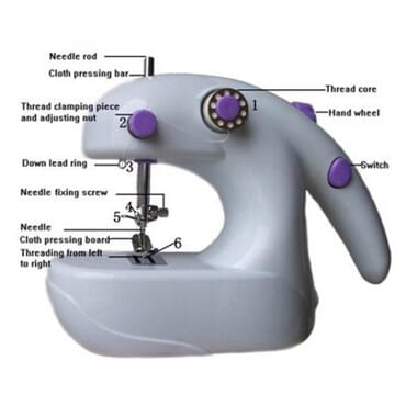 2 In 1 Portable Electric-Battery Mini Desktop Sewing Machine