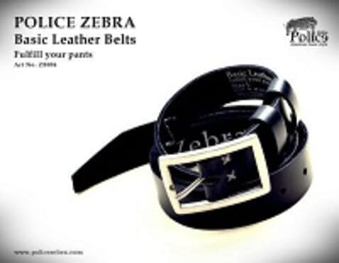 POLICE ZEBRA BELT Art No: ZB 004 Black