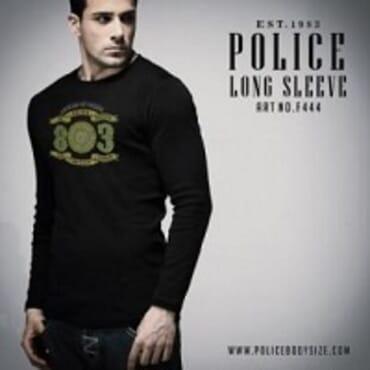 POLICE BODYSIZE PRINTED LONGSLEEVE TEE SHIRT F.444