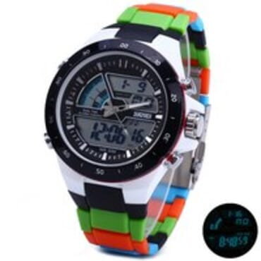 Skmei 1016-G Digital Analog Silicone Swim Sport Watch Multicolor