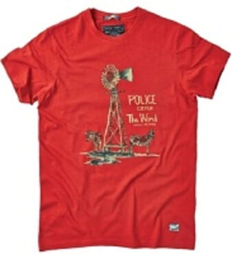 POLICE ZEBRA RED PRINTED SHORT SLEEVE T- SHIRT T.98