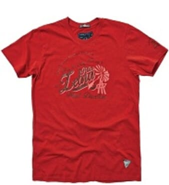 POLICE ZEBRA RED PRINTED SHORT SLEEVE T- SHIRT T.100