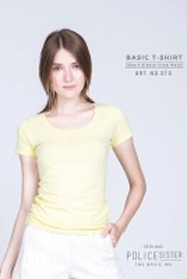 POLICE SISTER YELLOW PRINTED SHORT SLEEVE T- SHIRT ST3