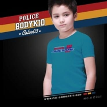 POLICE BODYKID LITE BLUE PRINTED SHORT SLEEVE T- SHIRT KC.011