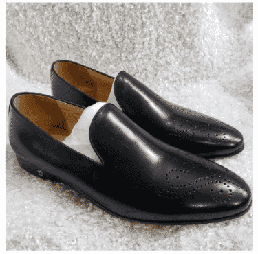 Smooth Men's Brogues Toe Loafer + A Free Happy Socks