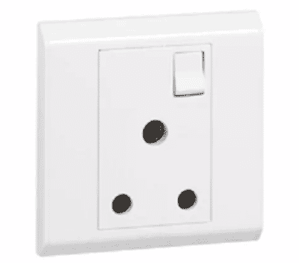 Legrand BS Socket Outlet - 1 Gang SP Switched + NEON - 15 A - 250 V - 617052