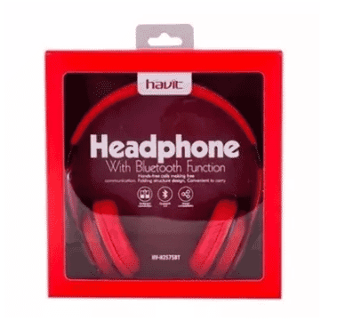Havit Me Stereo Bluetooth Headset - Hv-h2575bt- Black & Red