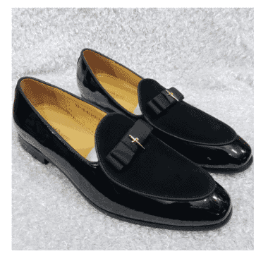 Italian Men's Suede And Leather loafer Shoe + A Free Happy Socks