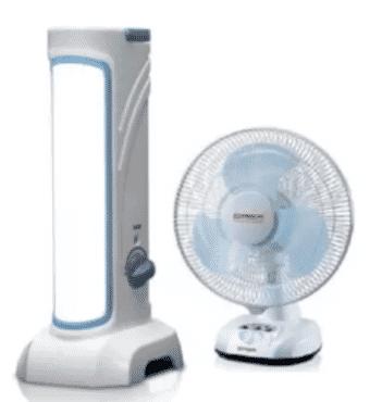 QASA Rechargeable Table Fan - QRF-2912 + FREE Rechargeale Lantern