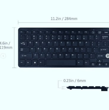 Ultra-thin keyboard and mouse set