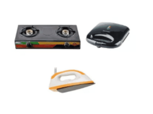 Sonik Sonik Gas Cooker, Iron & Power Delux Toaster Bundle