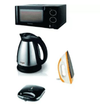 Century Microwave + Power Deluxe Toaster + Qasa Jug + Sonik dry iron