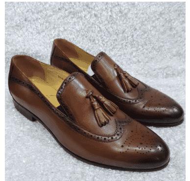 Men's Brogues Toe Loafer + A Free Happy Socks