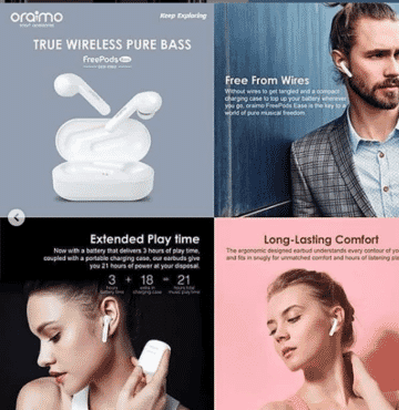 Oraimo True Wireless Pure Bass Earbuds