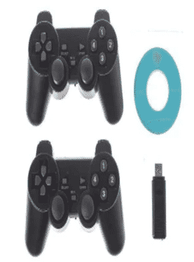 Twins Gamepad Black USB Wireless Vibration PC Control