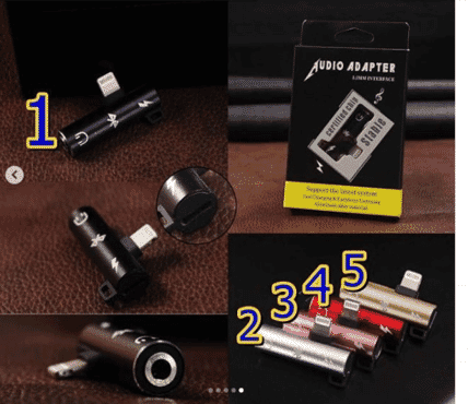 Type-C Earphone Headphone Jack Adapter 2 in 1 Type C to 3.5mm Jack Audio Aux Connector Charger