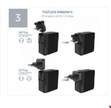Pisen Power Comb Port 4 + Eu Plug- Ts-c085 Eu