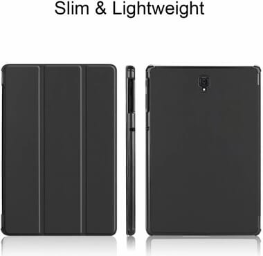 Samsung Galaxy Tab S4 10.5 Tablet Cover Case- Ultra Slim Lightweight Smart Shell Stand Cover Case for Samsung Galaxy Tab S4 10.5 SM-T830 Wi-Fi & SM-T835 4G LTE Tablet (Black)