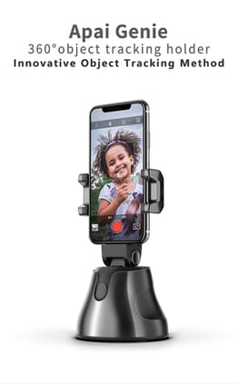 Apai Genie Auto Smart Shooting Selfie Stick 360 Object Tracking Holder All-in-one Rotation Face Tracking Camera Phone Holder