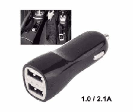 New Age Car Dual USB Charger - 2.1a/1.0a