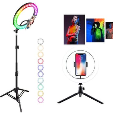 26cm Rgb Led Ring Light With Tripiod Selfie Colorful Photography Lighting