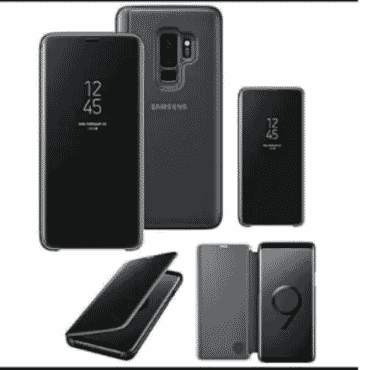 Universal Chef Clear View Cover For Samsung S9 - Black