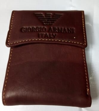 ARMANI Vetical Foldable Wallet