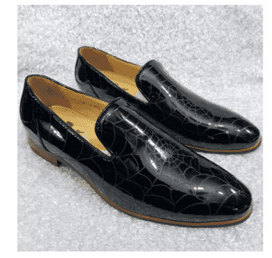 Men's Wed Design Patent Leather Loafer + a Free Happy Socks