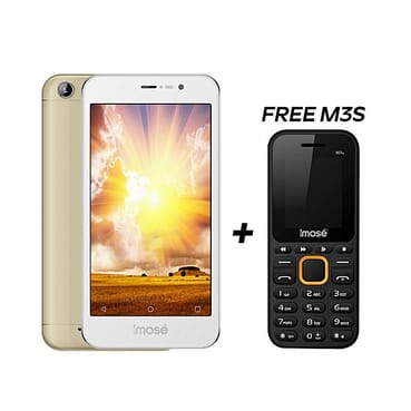 Imose GiDi - 5-Inch Android Phone - 4500mAh Battery - Gold + Free M3s Phone