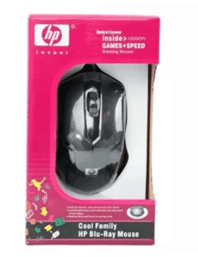 HP Wired Mouse - Black